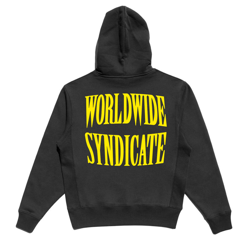 SYNDICATE EMBROIDERED PREMIUM HOODIE - BLACK