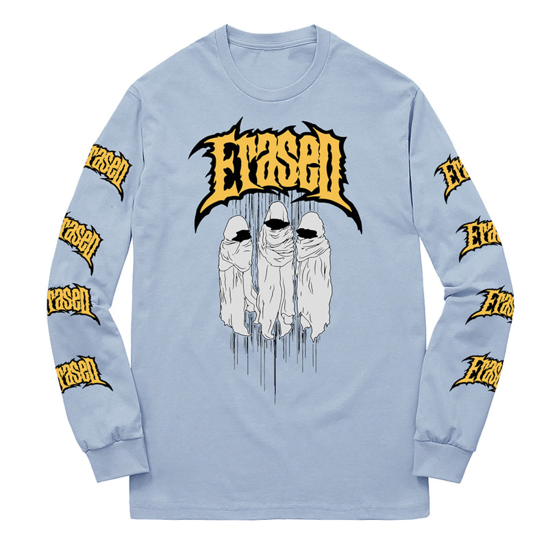HOODED FIGURES LONGSLEEVE - POWDER BLUE