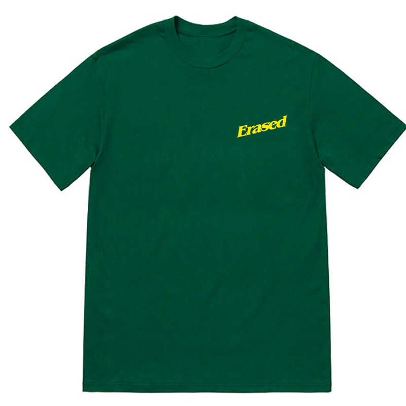 EMBROIDERED/PUFF PRINT LOGO TSHIRT - FORREST GREEN