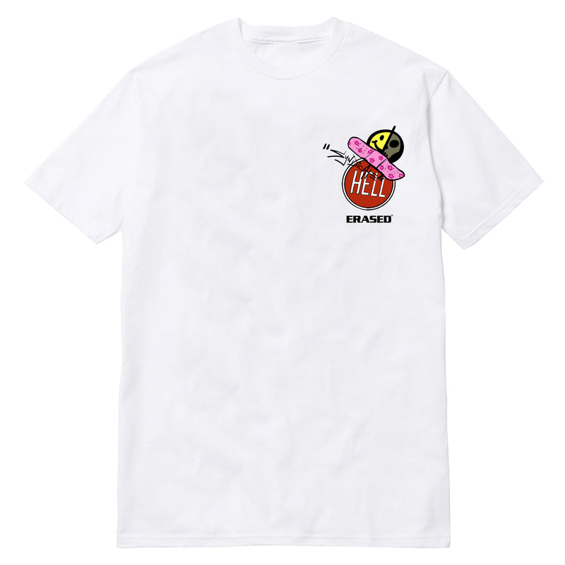 ERASED HELMET TSHIRT - WHITE