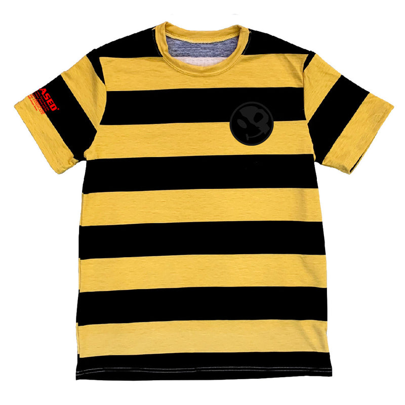 HEAVY WEIGHT PATCH STRIPED TSHIRT