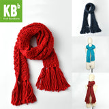 2017 KBB Spring    Hot Style muticolors Bulky Lace Design Wool Lambswool Knitted Neck Warmer Wrap Scarf Scarves for women men