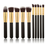Professional 10Pcs Makeup Brush Sets Tools Cosmetic Brush Foundation Eyeshadow Eyeliner Lip Powder Brush Pinceau Maquillage