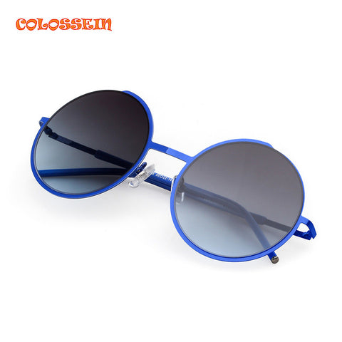 COLOSSEIN Retro Round Sunglasses Brand Unisex Sunglasses Metal Frame With Polarized Lens Hot Street Style