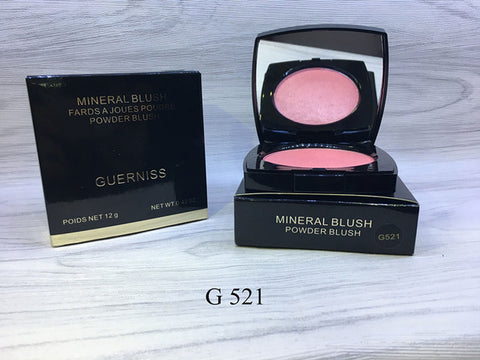 Brand GUERNISS Long-lasting Natural Mineral Blush Fards a joues poudre powder Professional Face Make-up Cheek Color 4 colors