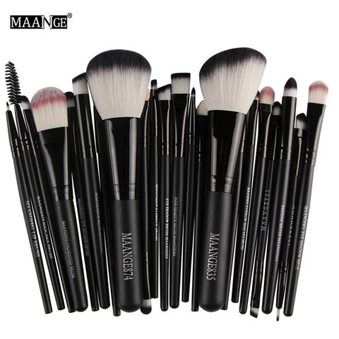 MAANGE Pro 22Pcs Makeup Brushes Set Comestic Powder Foundation Blush Eyeshadow Eyeliner Lip Beauty Make up Brush Tools Maquiagem