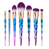10Pcs Dimond Rose Golden Makeup Brush Set Eyeshadow Powder Foundation Eyes Sha Cosmetic Cream Blush Makup Brush Set High Quality