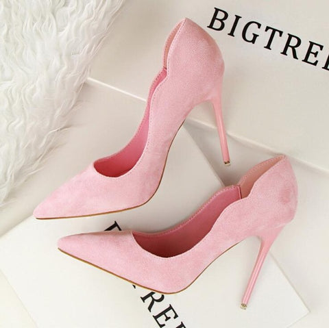 BIGTREE 2017 wedding Slip on Women Pumps Elegant High Heel Women's Pumps Pointed Toe Ladies Shoes Woman Heels zapatos mujer k90