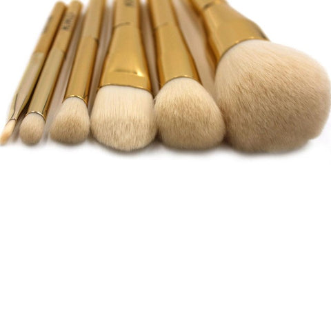 Pro Foundation Powder Makeup Brush Set Gold Powder & Blush brush cosmetics make up brushes