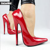 Jialuowei FETISH 6 inch EXTREME HEEL Funtasma high heel ballet shoes Sexy Patent Heels Halloween ballet shoes Plus size 36-46