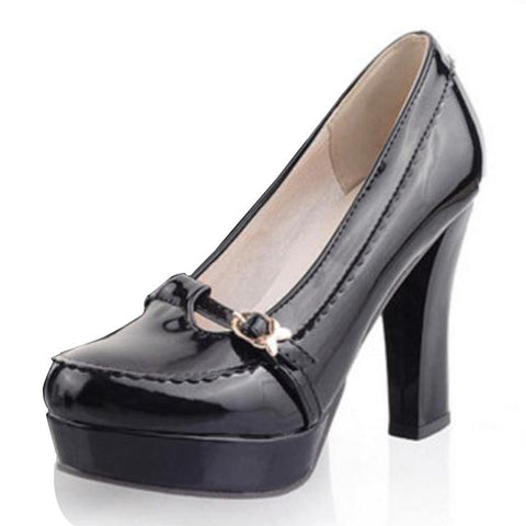 KemeKiss Office Lady High Heel Shoes Women Platform Buckle Solid Color Pumps Female Fashion Daily Work Footwears Size 33-43