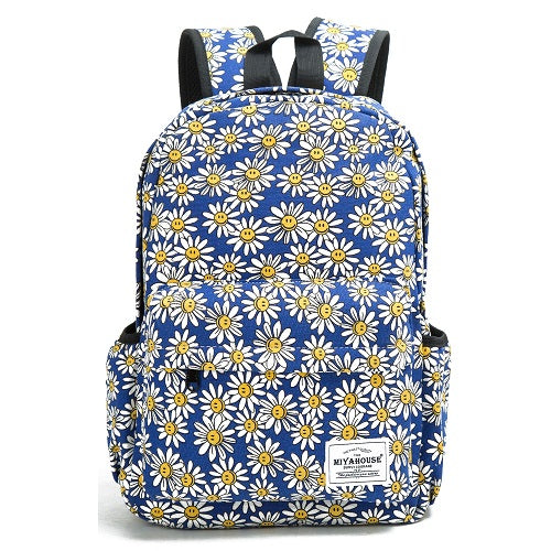 509ee489c9 Miyahouse Fresh Style Women Backpacks Floral Print Bookbags Canvas Backpack  School Bag For Girls Rucksack Female