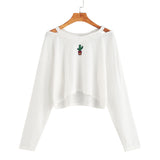 2017 New Design Fashion Women Long Sleeve Off Shoulder Embroidery Sweatshirt Causal Tops Blouse plus size women clothing blusas