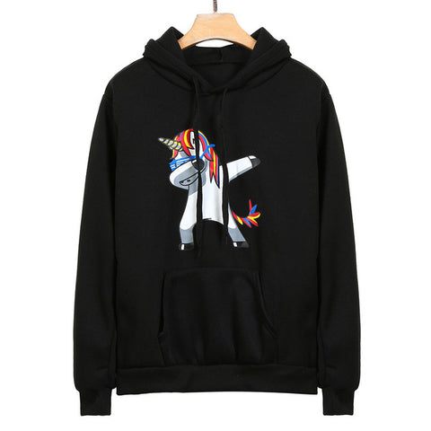 US New Novelty Women Hoodies Fashion Cartoon unicorn Sweatshirts For Ladies Autumn Long Sleeve Hoodies Sweatshirt Pullover Tops