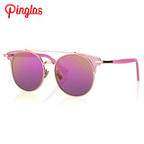 PINGLAS New Sunglasses Women Cateye Glasses Mirrored UV Protection Eyeglasses Fashion Outdoor Sun Glasses