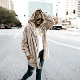Women Fur Coat Hooded Long Coat Hoodies Outwear Cardigan Coat Autumn Winter Warm Clothes Coats For Ladies#121