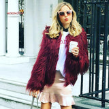 2017 Autumn&Winter Womens New Luxury Fur  Fashion Coat Jacket Elegant Parka Outerwear Evening Party Fur Casual Faux Fur Tops