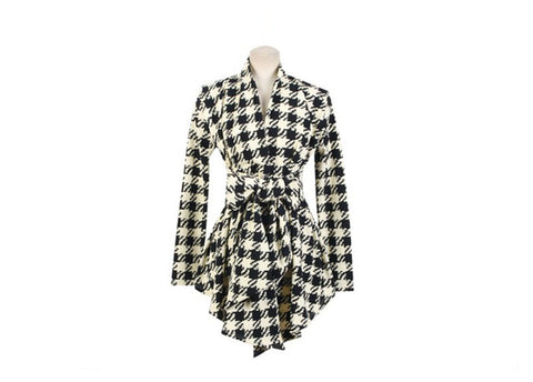 MUQGEW 2017 New Design Womens Houndstooth Pattern Thin Cardigan Coat Jacket Outwear winter coat women manteau femme hiver