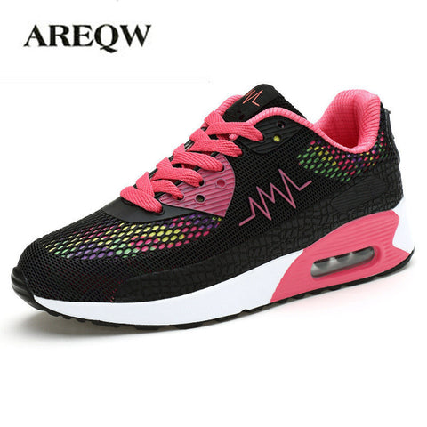 AREQW 2017 spring and autumn new net shoes women fashion fashion shoes  women colorful mesh flat shoes women