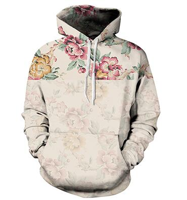 SUNSPA 2017 Flowers Hoodies Men/Women 3d Sweatshirts Digital Print Rosa Roses Floral Hooded Hoodies Brand Hoody Tops