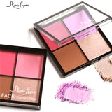 2017 New Blush Makeup Pigments Long Lasting Mineral Powder Face Make Up Contour Shimmer Highlighter Blushers Palette