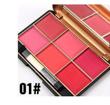 MISS ROSE High Quality Makeup Face Sleek Blush Powder Palette 6 Colors Colorete Contour Bronzer Pincel Maquiagem Rouge Blusher