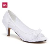 Vivident Genuine Leather Soft Sexy Mesh Air Lady Pump Hollow Casual Women High Heel Comfortable Dress Office Lovely Shoes