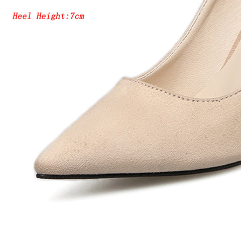 HENGSCARYING Plus Size 42 43 Women 9cm 7cm 5cm High Heels Talon Hauts Pumps Velvet Classic Heels Female Scarpins Tacons Shoes