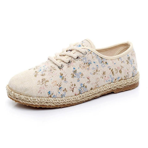 2017 New Summer Student Leisure Shoes Breathable Floral Womens Shoes Casual Shoes Women Sy-2434