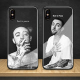 Mac Miller Rip coque Tempered Glass Soft Silicone Phone Case Shell Cover For Apple iPhone 6 6s 7 8 Plus X XR XS MAX