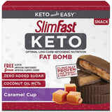 سليم فاست كيتو سناك كراميل ومكسرات 14 قطعة - SlimFast Keto Fat Bomb Snacks 14 Count