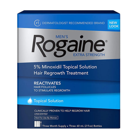روجين سائل للرجال 3 أشهر - Rogaine 5% Minoxidil Topical Solution for Men 3 Months