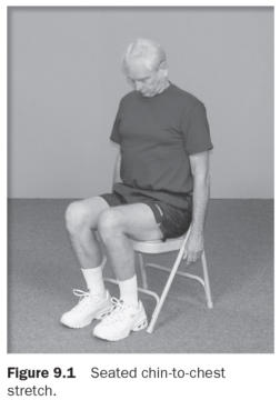 Figure 9.1 Seated chin-to-chest stretch.
