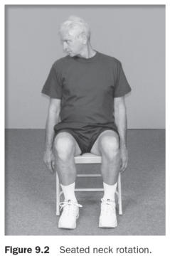 Figure 9.2 Seated neck rotation.
