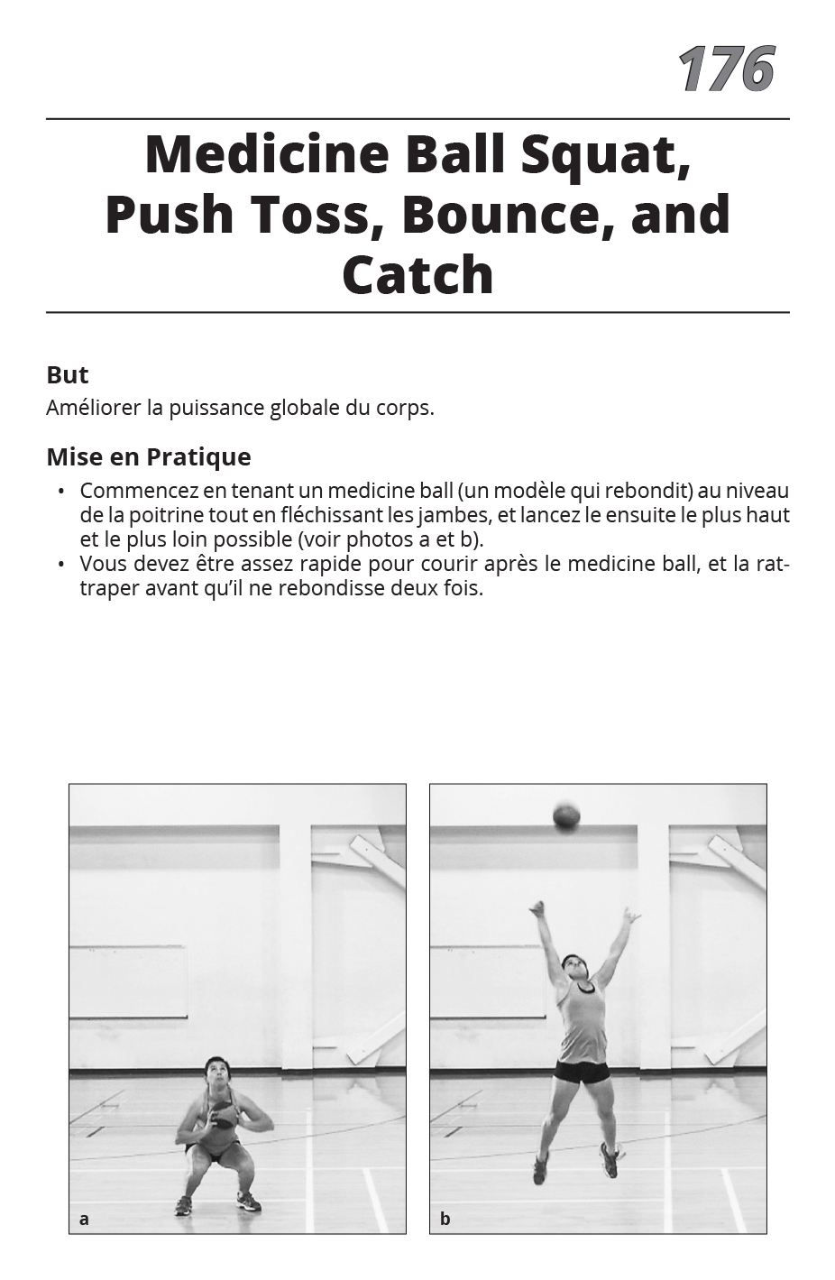 Medicine Ball Squat, Push Toss, Bounce, and Catch