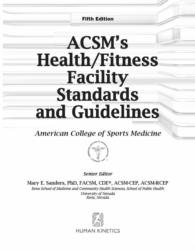 ACSM Heatlh Fitness Facility 5E Front Matter