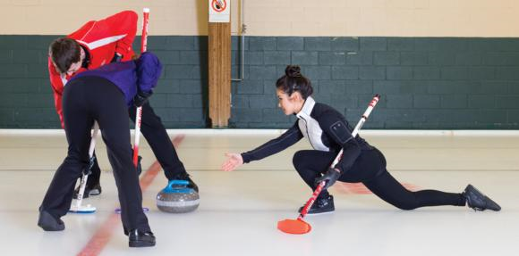 Moderate-intensity sports like curling can help you reach your daily goal for calorie expenditure.