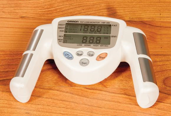 Figure 8.3 BIA machines can be used to assess body fat levels.