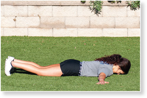 Figure 4.4 Hand Release Push-Up–Arm Extension: arms extended in T position.