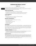 Sample Pages: Nutrition and Physical Activity: Grades 1-3