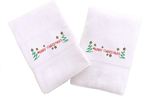 christmas bathroom hand towels