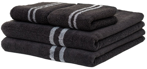 Black Towel Folding in three