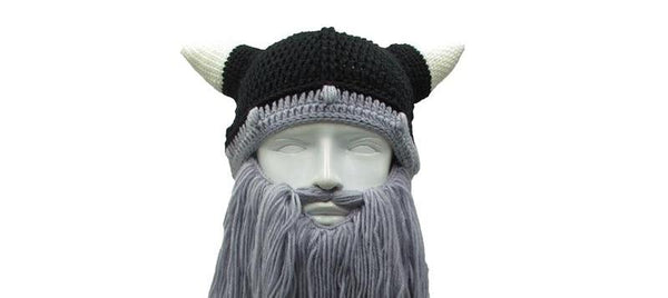 Knitted Viking Hat With Beard