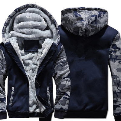 Thermal Fleece Camouflage Hoodie