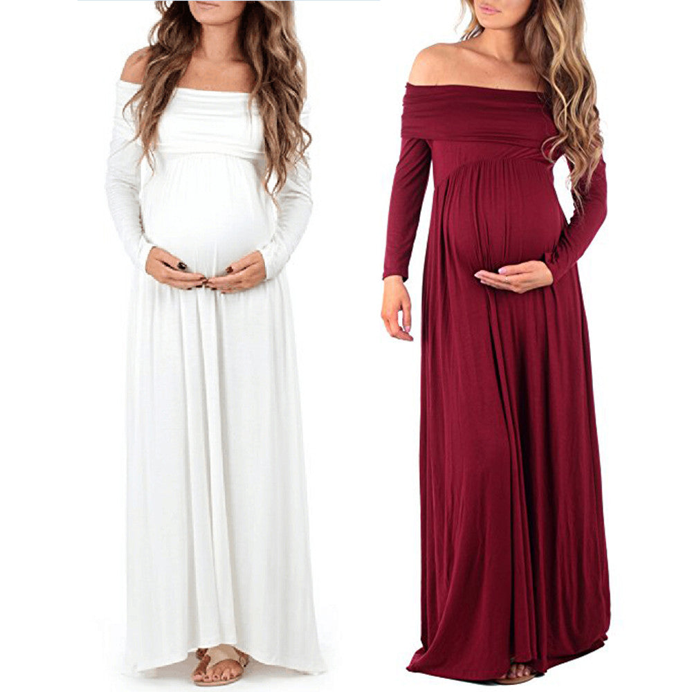 Maternity dress Women Cowl Neck Pregnants women dresses - mamadirectory