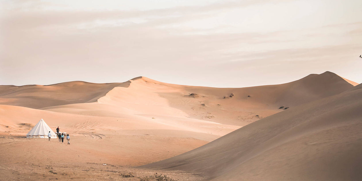 Through the Moroccan sand dunes