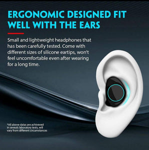 TWS Bluetooth 5.0 Earbuds 100% Waterproof with Touch Control and Noise Cancellations
