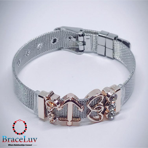 Classy Mesh Bracelet with Slider Charms