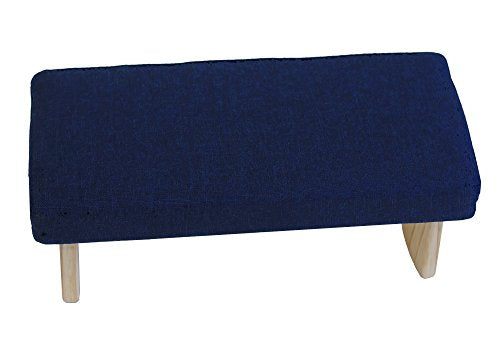 Fixed Legs Meditation Bench Premium Ultra-Light 3 Sizes Many Colors Made in USA (Navy Black, Medium)