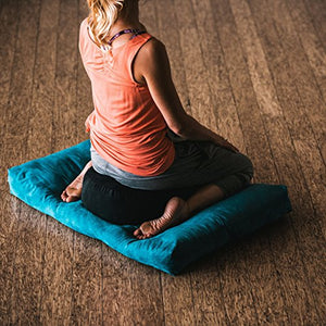 Gaiam Zafu Meditation Cushion, Black